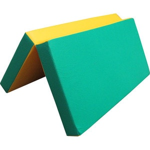 Мат КМС № 3 (100 х 100 10) складной зелёно/жёлтый