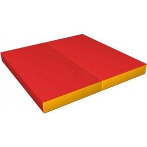 Мат КМС № 3 (100 х 100 10) складной красно/жёлтый