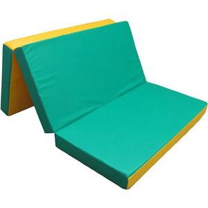 Мат КМС № 4 (100 х 150 10) складной зелёно/жёлтый