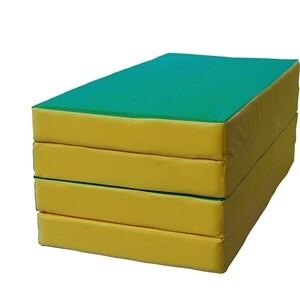 Мат КМС № 5 (100 х 200 х 10) складной 3 сложения зелёно/жёлтый (1963)