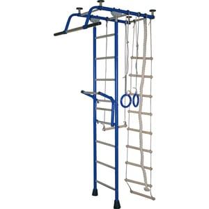 Детский спортивный комплекс Крепыш плюс Т с навесным турником синий (0843)