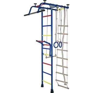 Детский спортивный комплекс Крепыш плюс Т с навесным турником синий (0787) детский спортивный комплекс крепыш плюс 02453 т пвх синий