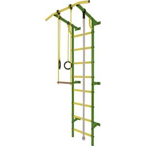 Детский спортивный комплекс Лидер С-02 зелёно/жёлтыйтехнические характеристики фото габариты размеры  - купить со скидкой