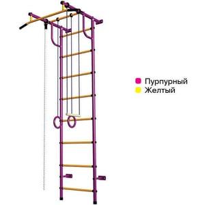 Детский спортивный комплекс Пионер С2НМ пурпурно/желтый