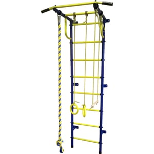 Детский спортивный комплекс Пионер С2Р сине/жёлтый цена