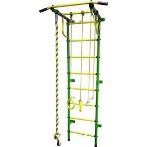 Детский спортивный комплекс Пионер С2РМ зелёно/жёлтый детский спортивный комплекс пионер с2нм зелёно жёлтый