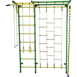 Детский спортивный комплекс Пионер С4ЛМ зелёно/жёлтый детский спортивный комплекс пионер с2нм зелёно жёлтый