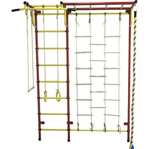 Детский спортивный комплекс Пионер С4ЛМ красно/жёлтый детский спортивный комплекс пионер м красно жёлтый
