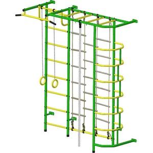 Детский спортивный комплекс Пионер С5ЛМ зелёно/жёлтый детский спортивный комплекс пионер с2нм зелёно жёлтый