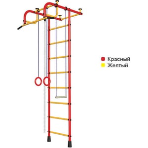 цена на Детский спортивный комплекс Пионер 1 (2082) красно/желтый