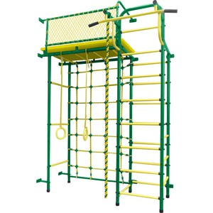 Детский спортивный комплекс Пионер 10С зелёно/жёлтый детский спортивный комплекс пионер с2нм зелёно жёлтый