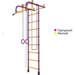 Детский спортивный комплекс Пионер 1М пурпурно/желтый