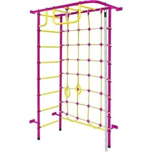 Детский спортивный комплекс Пионер 8М пурпурно/жёлтый