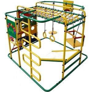 Детский спортивный комплекс Формула здоровья Мурзилка S зелёный-радуга