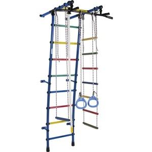 Детский спортивный комплекс Формула здоровья Стелла-1С Плюс синий-радуга цена