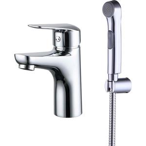 Смеситель для умывальника IDDIS Torr с гигиеническим душем (TORSB00i08) смеситель для раковины с гигиеническим душем iddis carlow plus crpsb00i08