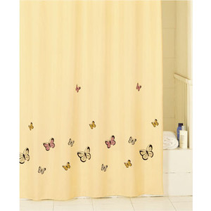 Штора для ванной IDDIS Yellow Butterfly 200x200 см (SCID033P)