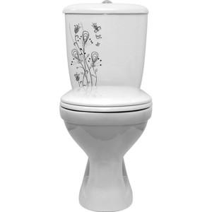 Унитаз с бачком Оскольская керамика Радуга Стандарт декор цветы (4631111132005)