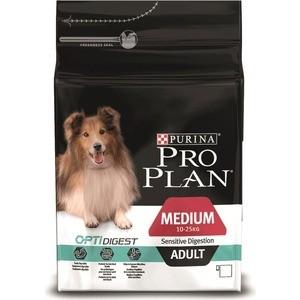 Сухой корм PRO PLAN OPTIDIGEST Sensitive Digestion Adult Medium с ягненком для собак средних пород чувствительным пищеварением 3кг (12278098)