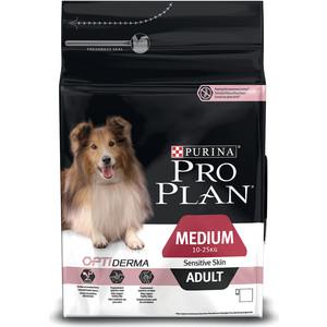 Сухой корм PRO PLAN OPTIDERMA Sensitive Skin Adult Medium с лососем и рисом для собак средних пород чувствительной кожей 3кг (12272211)