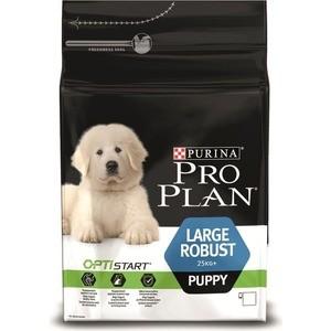 Сухой корм PRO PLAN OPTISTART Puppy Large Robust с курицей и рисом для щенков крупных пород мощного телосложения 3кг (12272200)
