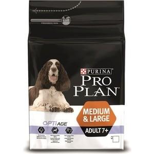 Сухой корм PRO PLAN OPTIAGE Adult 7+ Medium & Large с курицей и рисом для пожилых собак средних и крупных пород 3кг (12272681)
