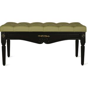Банкетка Мебелик Сильвия эко-кожа оливковый/венге