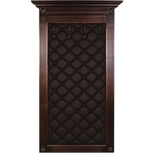 цена Вешалка в прихожую Мебелик Сильвия Н3 эко-кожа коричневый/темно-коричневый онлайн в 2017 году