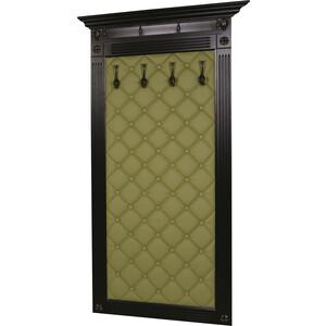 Вешалка в прихожую Мебелик Сильвия Н3 эко-кожа оливковый/венге