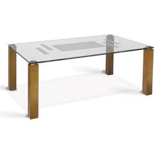 Стол журнальный Мебелик Робер 10Д средне-коричневый стол журнальный мебелик квартет 13 средне коричневый прозрачное