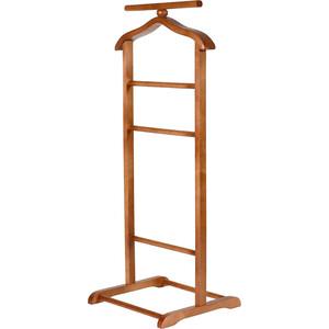 Вешалка костюмная Мебелик В 6Н средне-коричневый мебелик вешалка напольная в 6н светло коричневая ifm ypsc