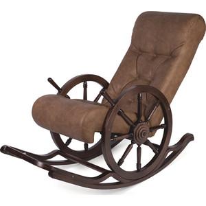 Кресло-качалка Мебелик Штурвал Тенария 4 эко-кожа темно-коричневый цена