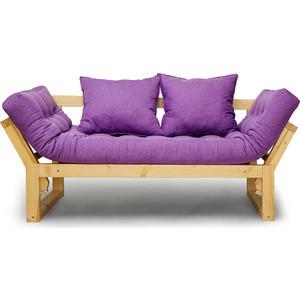 Кушетка Anderson Амбер сосна-фиолетовая рогожка