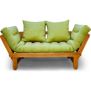 Кушетка Anderson Сламбер орех-зеленая рогожка пуфик anderson сламбер орех бежевый вельвет