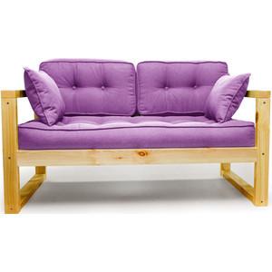 Диван Anderson Астер Мини сосна-фиолетовая рогожка