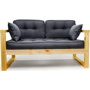 Диван Anderson Астер Мини сосна-черная рогожка кресло anderson астер сосна оранжевая рогожка
