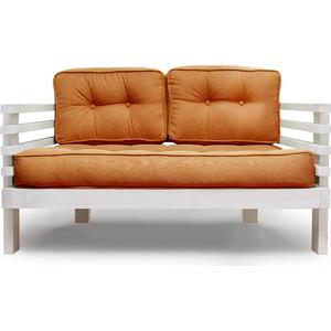 Диван Anderson Стоун Мини бел дуб-оранжевая рогожка