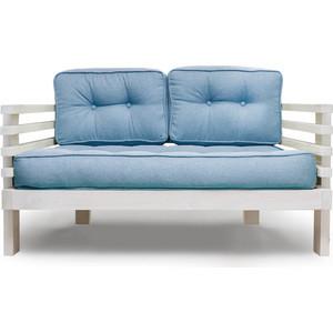 Диван Anderson Стоун Мини бел дуб-синяя рогожка цена