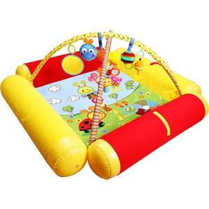 Развивающий коврик Biba Toys Друзья Бюсси с надувными бортиками120*120 см GD158 развивающий коврик lorelli toys развивающий коврик lorelli toys с интерактивным столиком 105 х 65 см 1030038