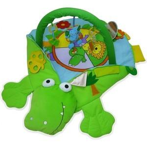 Развивающий коврик-трансформер Biba Toys Крокодил 4 в 1 86*56*47 см JF433 развивающий коврик lorelli toys развивающий коврик lorelli toys с интерактивным столиком 105 х 65 см 1030038