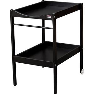 Столик для пеленания Combelle Alice (дерево) 2 колеса - Black / Черный 108