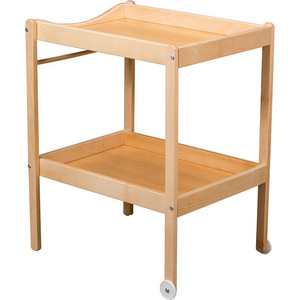Столик для пеленания Combelle Alice (дерево) 2 колеса - Natiral / Натуральный 100