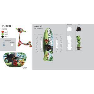 Самокат 3-х колесный 1Toy Angry Birds, Т56808 тюбинг 1toy angry birds разноцветный пвх