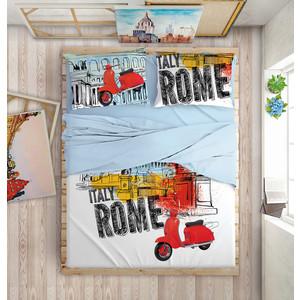 цена Комплект постельного белья Love me 2-х сп, перкаль, Holliday in Rome (199749/711068) онлайн в 2017 году