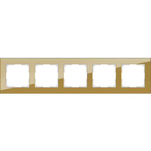 Рамка Werkel Favorit на 5 постов бронзовый WL01-Frame-05