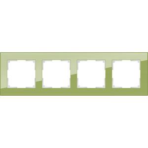 Рамка Werkel Favorit на 4 поста фисташковый WL01-Frame-04 все цены