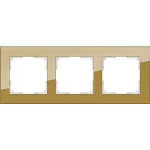 Рамка Werkel Favorit на 3 поста бронзовый WL01-Frame-03 все цены