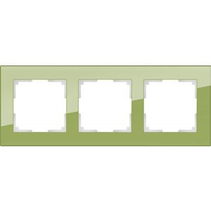 Рамка Werkel Favorit на 3 поста фисташковый WL01-Frame-03 все цены