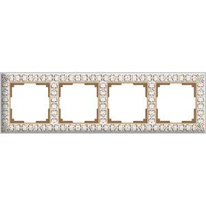 Рамка Werkel Antik на 4 поста белое золото WL07-Frame-01 все цены
