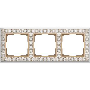 Рамка Werkel Antik на 3 поста белое золото WL07-Frame-01 все цены